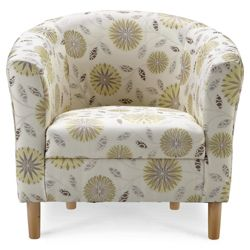 Tub Fabric Accent Chair Citrus Exeter Floral