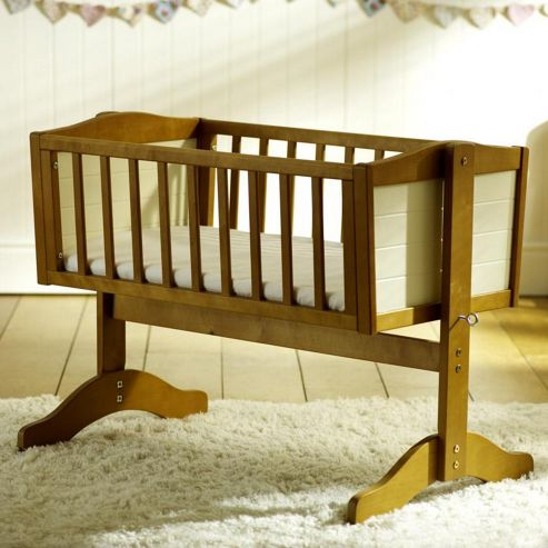 Saplings Bernice Swinging Crib, Country and Ivory