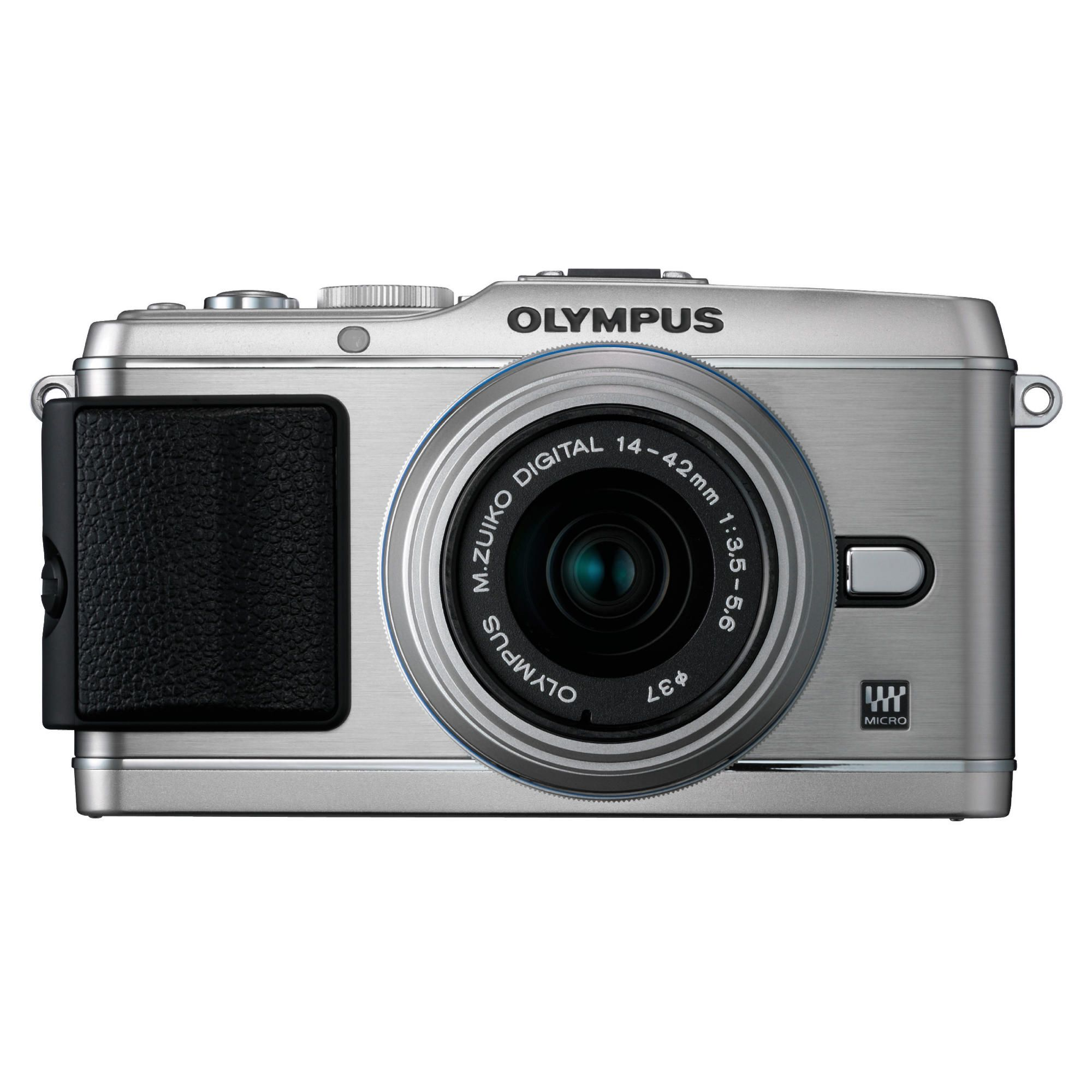 Olympus E-P3 Camera with 14-42mm II R Lens Kit (Silver)