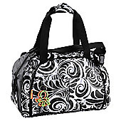 Okiedog Equinox Shuttle Travel Baby Changing Bag, Black & White