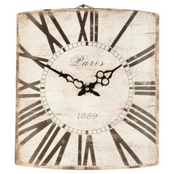 Hometime Antique Metal Wall Clock