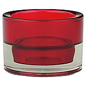 Maxi Tea Light Holder Red