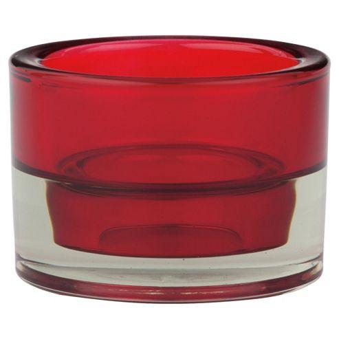 Maxi Tea Light Holder Red
