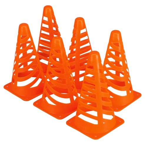 Activequipment Fluorescent Football Training Cones, Set of 6