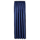 Tesco Faux Silk Lined Pencil Pleat Curtains - Navy