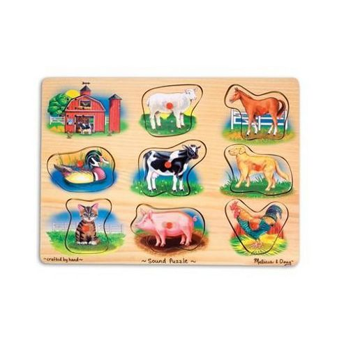 Melissa & Doug Farm Sound Wooden Puzzle
