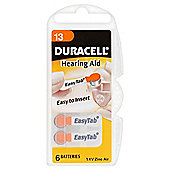 Duracell 6 Pack Hearing Aid 13 1.4V Zinc Air Batteries