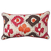 F&F Home ikat cushion, red