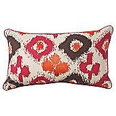 F&F Home ikat cushion, red