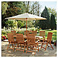 Salcombe Extendable 8 Seat Set, & Parasol