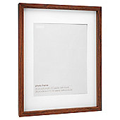 "Tesco Dark wood Frame 11"" x14"" with 8""x10"" mount"