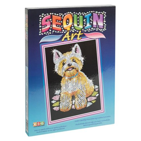 Sequin Art Westie