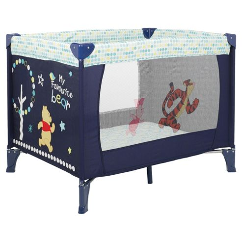 Disney Winnie the Pooh Travel Cot, Navy