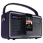 View Quest RETRO1-P Retro Dab Radio With Iphone Ipod Dock Purple