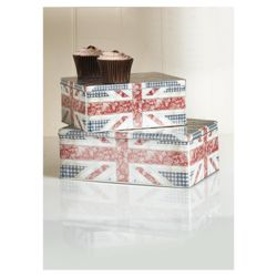 Tesco Floral Union Jack Set of 2 Cake Tins