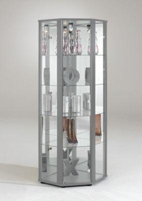 bradley glass corner display cabinet oak