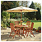 Salcombe 4 Seat Set and Parasol