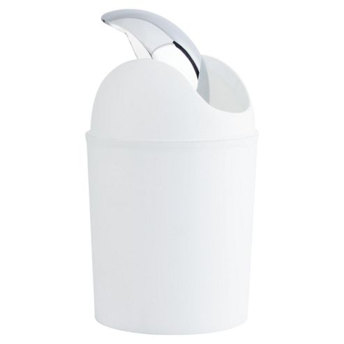 Tesco Plated Bathroom Bin White