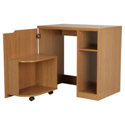 Seattle Hideaway Desk, Oak Effect