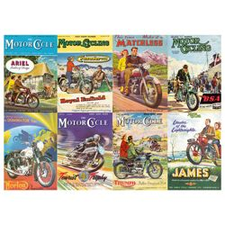 Gibsons Great British Bikes 1000 Piece Jigsaw