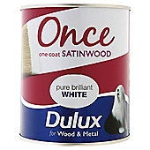 Dulux Once Satinwood Pbw 750ml
