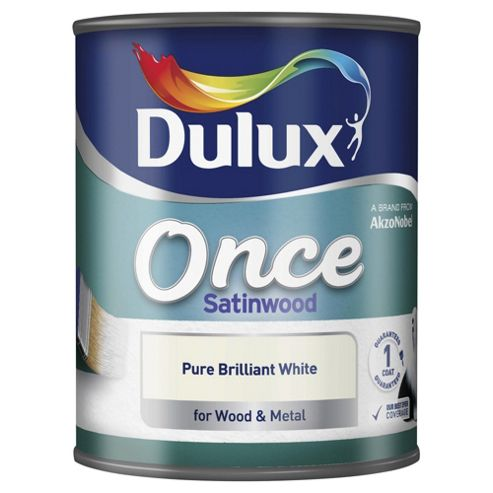 Dulux Once Wood & Metal Satinwood, Pure Brilliant White, 750ml