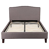 Roma King High Back Fabric Bed Frame