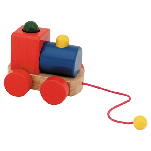 Great Gizmos Toy Box Pull Along Squeaky Train Wooden Toy