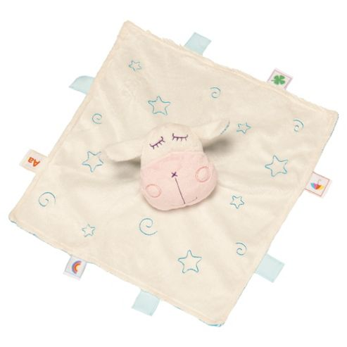 Herbe Lamb Tagged Baby Comforter Blue