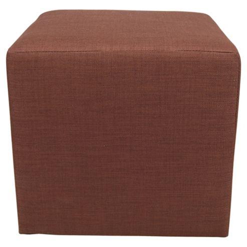 Stanza Fabric Cube / Foot stool Chocolate