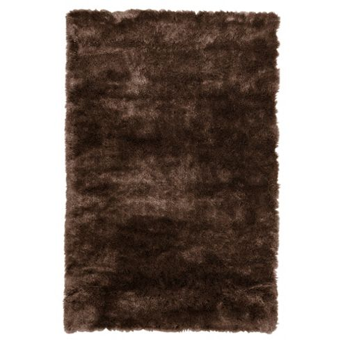Tesco Rugs Luxurious Shaggy Rug Chocolate 70X140Cm