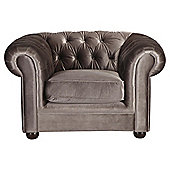 Chesterfield Velvet effect Armchair, Mink