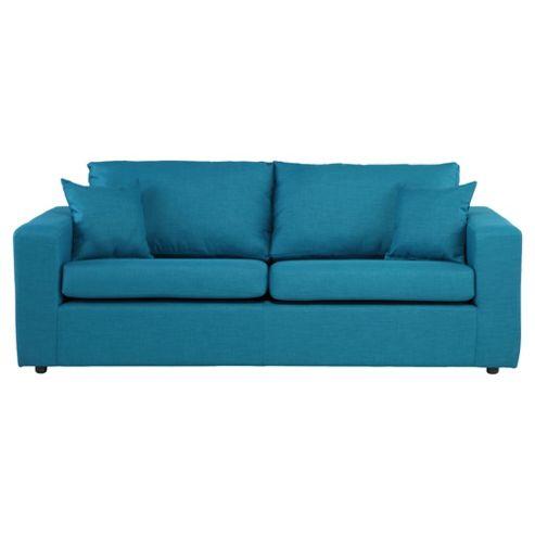 Maison Fabric Large 3 Seater Sofa Teal