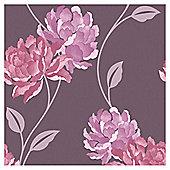 Dulux Peony Wallpaper, Damson