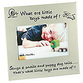 "Aluminium 6""x 4"" Photo Frame - What Are Little Boys Made Of?"