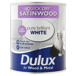 Dulux Quick Dry S/Wood Pbw 750ml