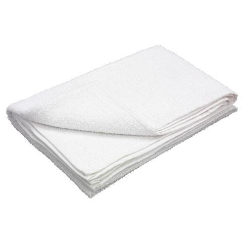 Tesco Value Bath Sheet, White