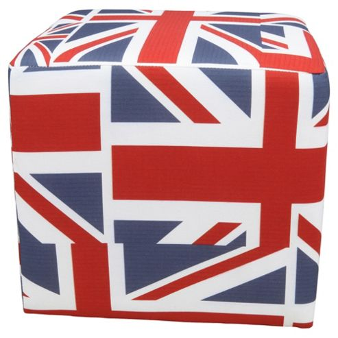 Cube Union Jack Red White And Blue