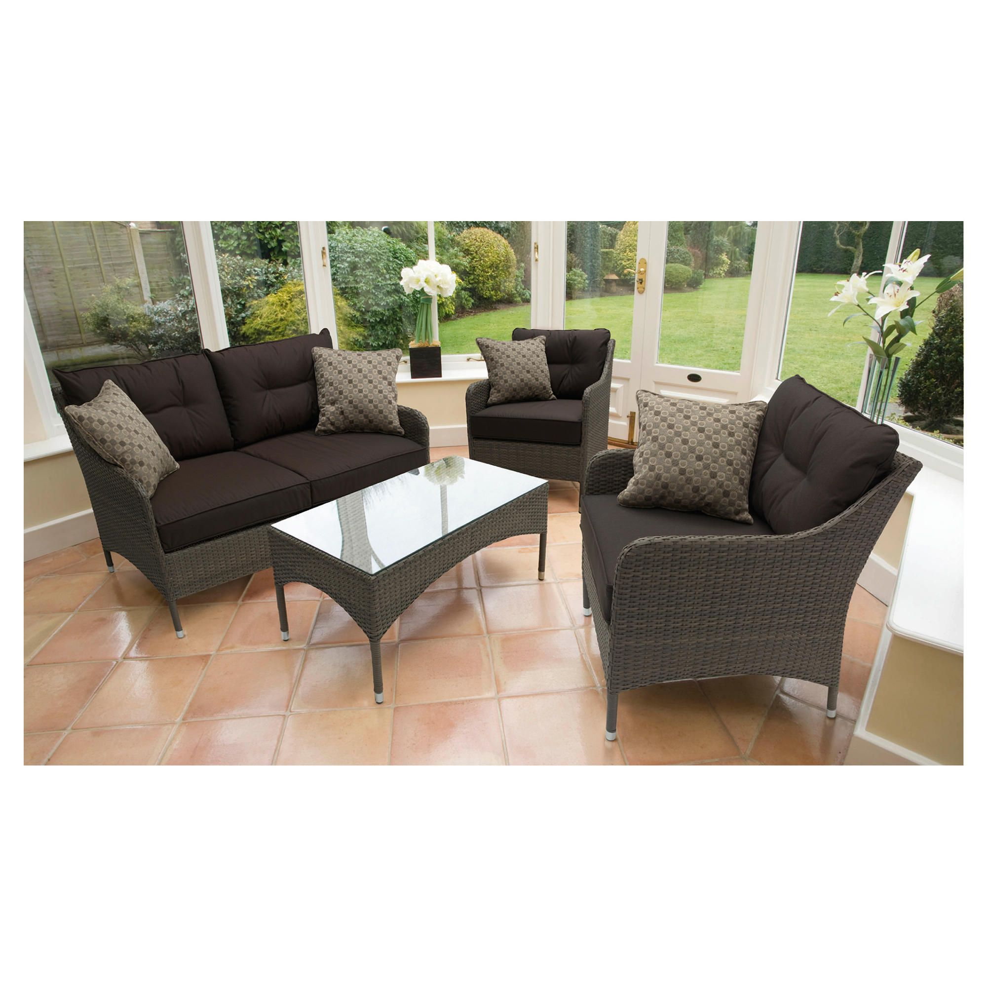 Homes & Garden 4 pc Lounge Set at Tesco Direct
