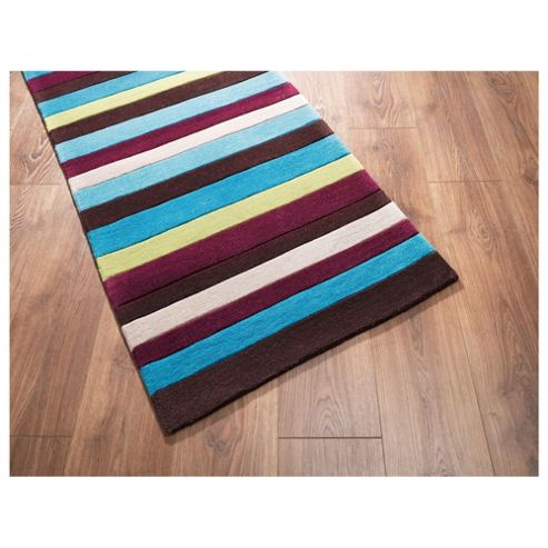 Tesco Rugs - Stripe runner retreat 67x200cm