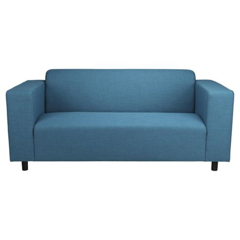 Stanza Fabric Medium 3 Seater  Sofa Teal