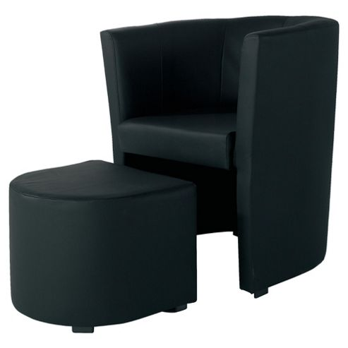 Tub And Stool Black