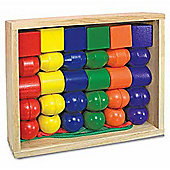 Melissa & Doug Wooden Primary Lacing Beads