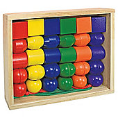 Melissa & Doug Primary Wooden Lacing Beads