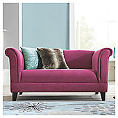 Millie Small Fabric Sofa Pink