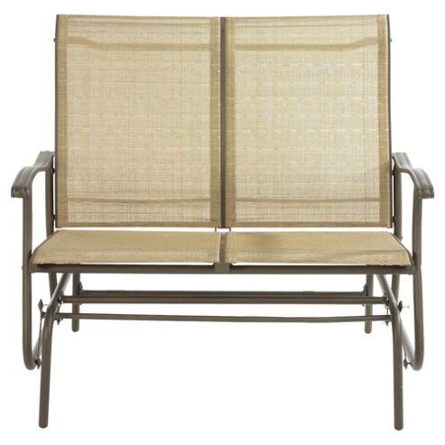 Sorrento Metal/Waterproof Woven textile 2 Seat Glider - Cocoa