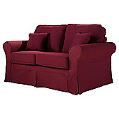 Louisa Loose Cover Only for Small Sofa Jaquard, Wine