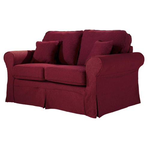 Louisa Loose Cover Only for Small 2 seater  Sofa Jaquard, Wine