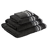 F&F home Linear Towel Bale Black