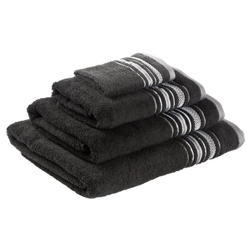Tesco Towel Bale Linear Black